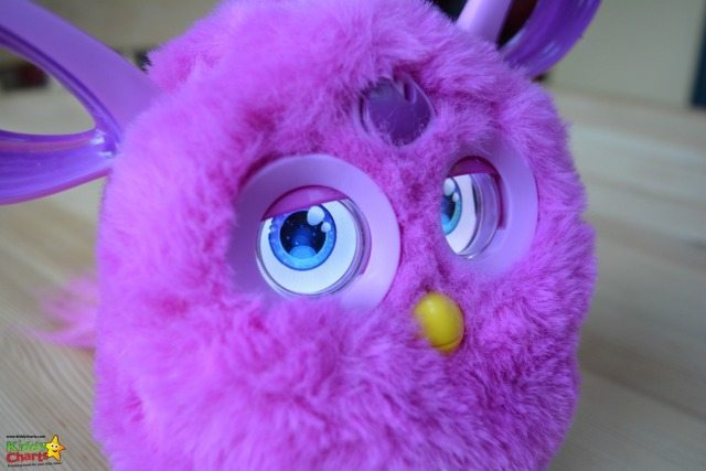 What's not to love with those massive Furbey Connect eyes - THESE are the bext things about the toy...all the little things that appear in them when you interact with it - the kids love it!