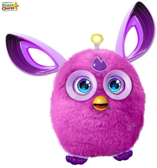Furby Connect comes in a few different colours, but we got a Purple one, which is grat as its my favourite colour - natch