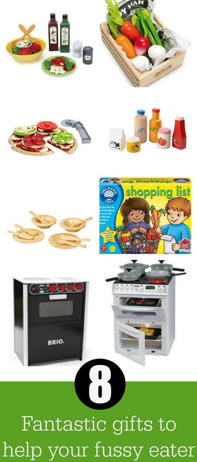 we have some great ideas for gifts for fussy eating. Kids like to explore food, and play food, and cooking is one way to do this to encourage good eating habits in your kids. From salads to fruit; we've got the lot!