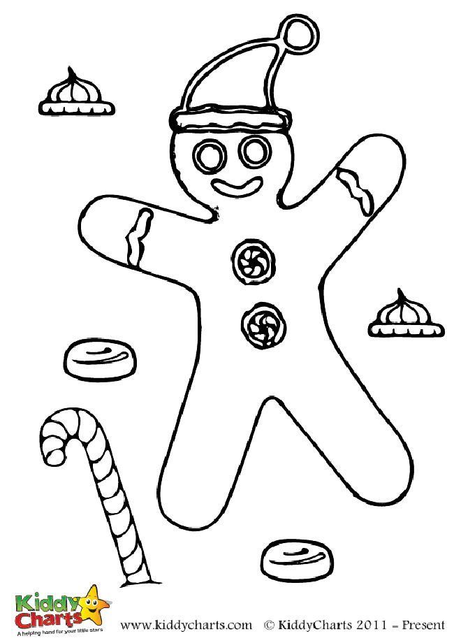 Free Christmas Gingerbread Man Colouring Page To Download And Print