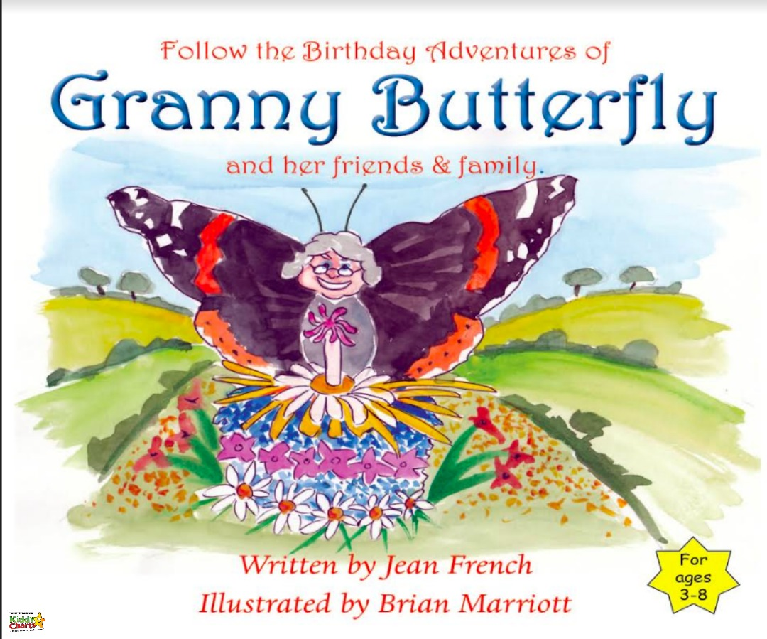 Some gorgeous butterfly colouring pages from the Granny Butterfly book; a lovely story about a Red Admiral butterfly and her family and friends!