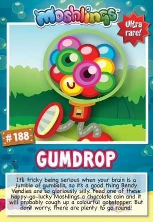 Moshi Monsters Series 10: Gumdrop collectors card
