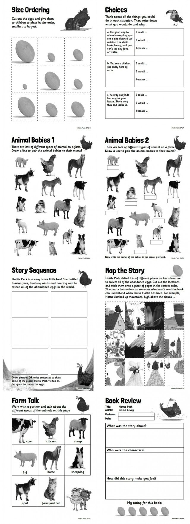 Free reading worksheets to motivate young readers