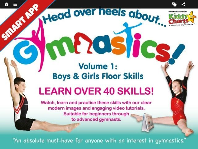 The head over heels about gymnastics app gives video tuition and clear diagrams to help kids to really get into gymnastics, and for £3.99. My daughter really enjoyed using it; finding it fun and informative. Why not see what we thought of it on the site.