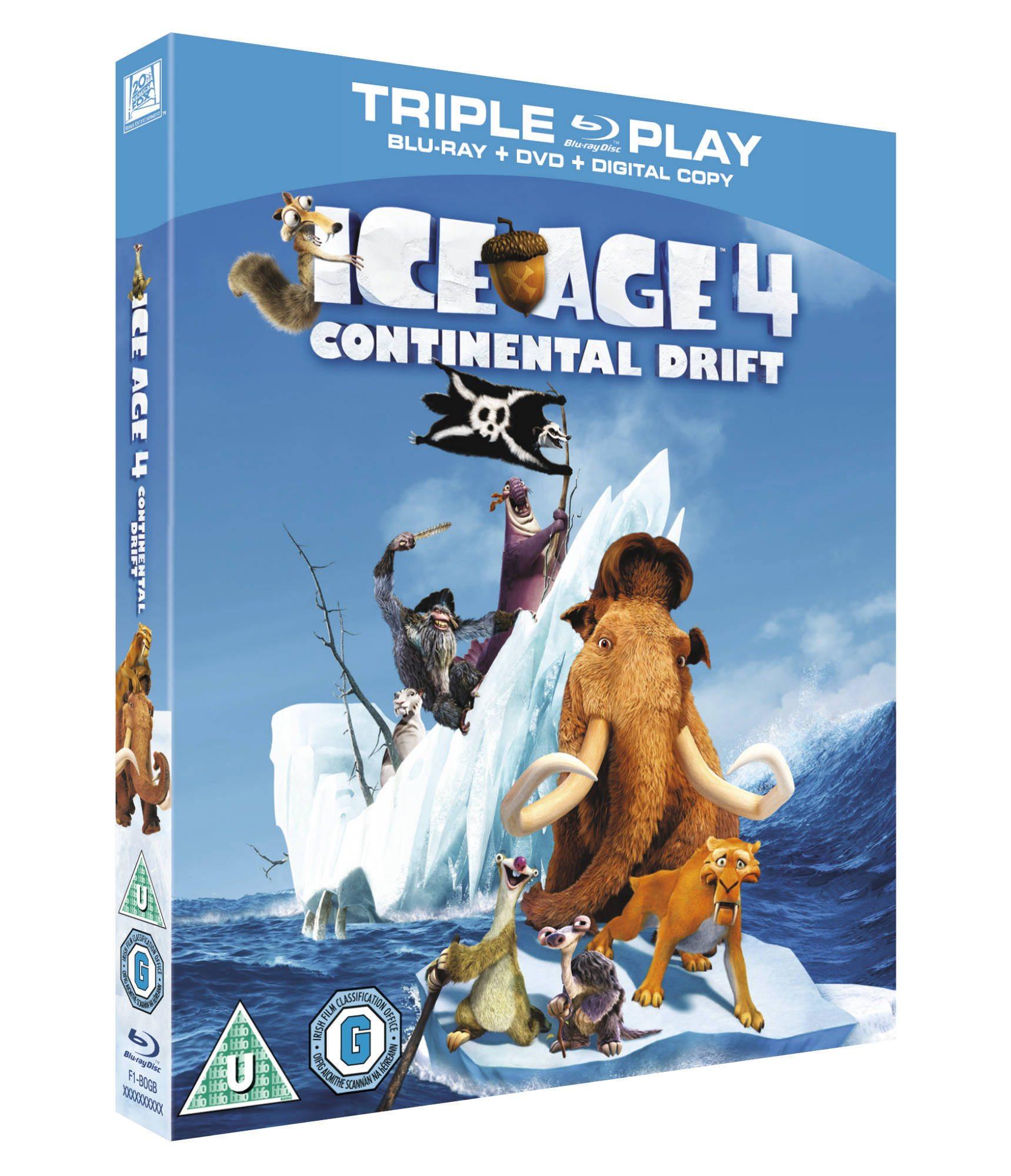 Ice Age 4 Blu-Ray Giveaway