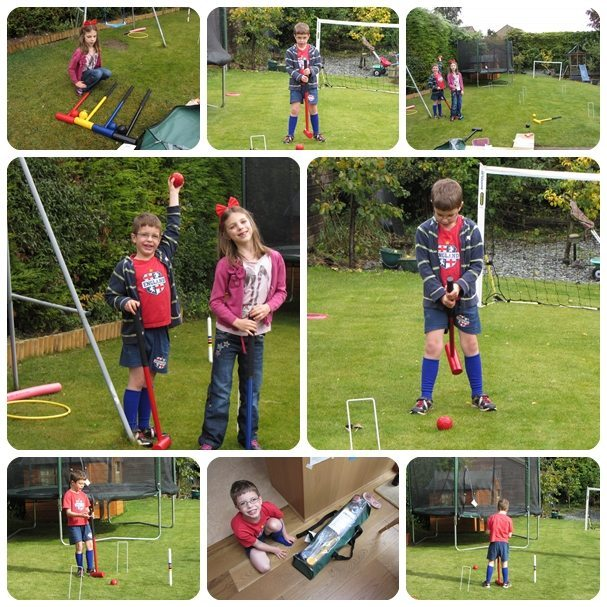 Lawn croquet: we ALL had a lot of fun you know!