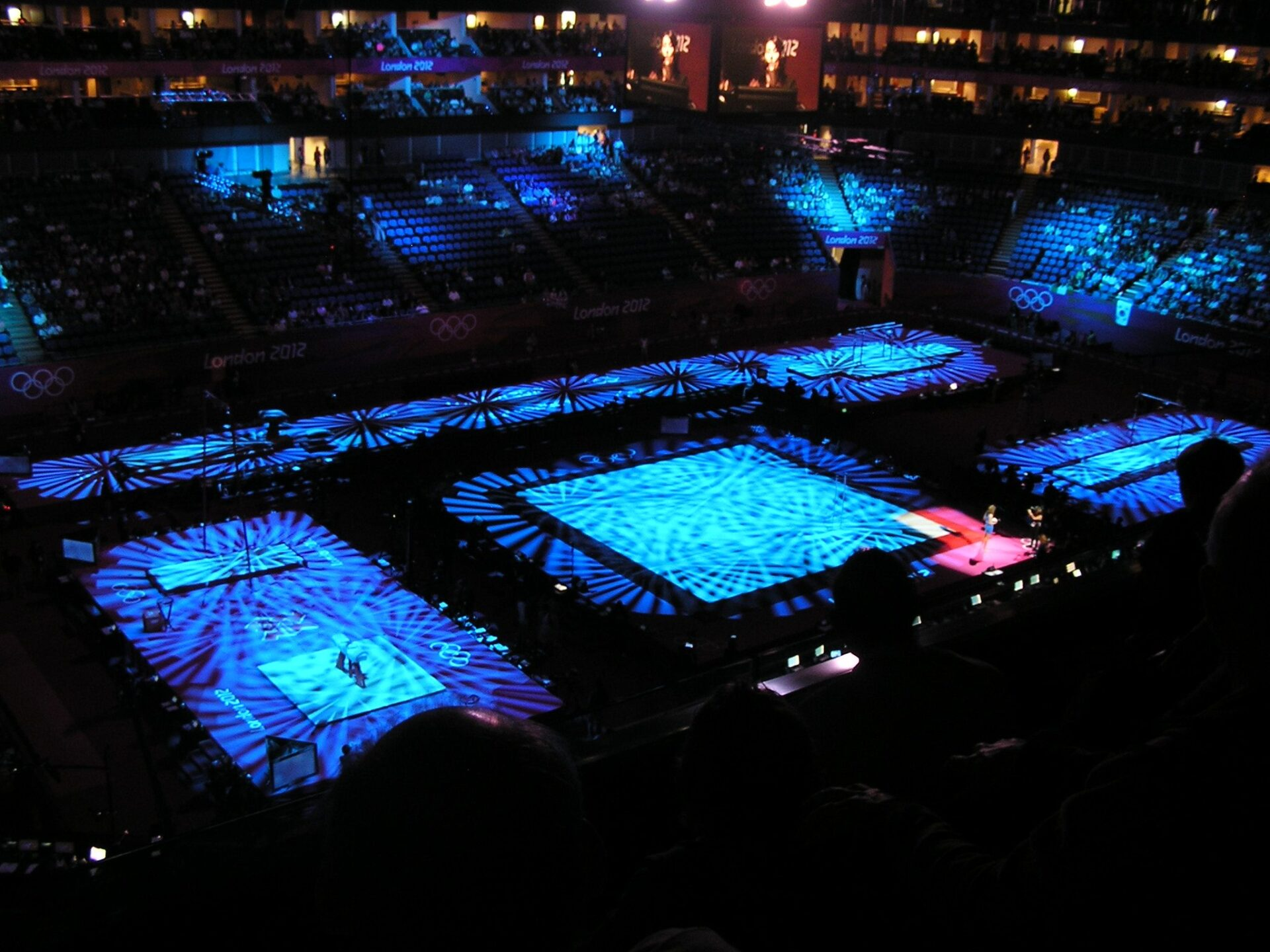 North Greenwich Arena before the London 2012 Olympics Mews Gymnastics Qualifying Rounds
