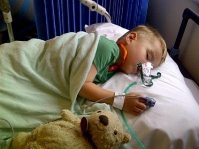 Saffron Walden 10K: Max during a lumbar puncture