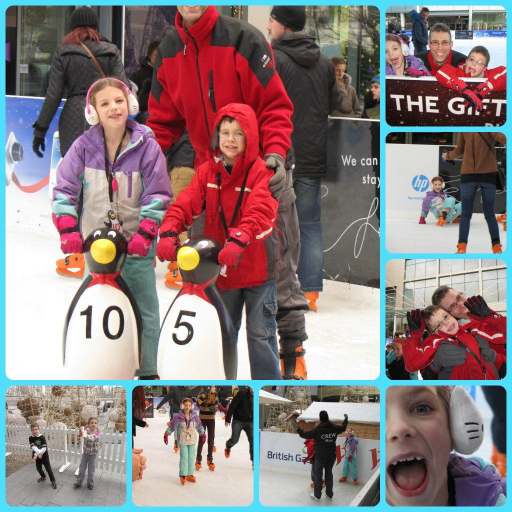 Westfield Ice Rink; the kids did rather well, wouldn't you say?