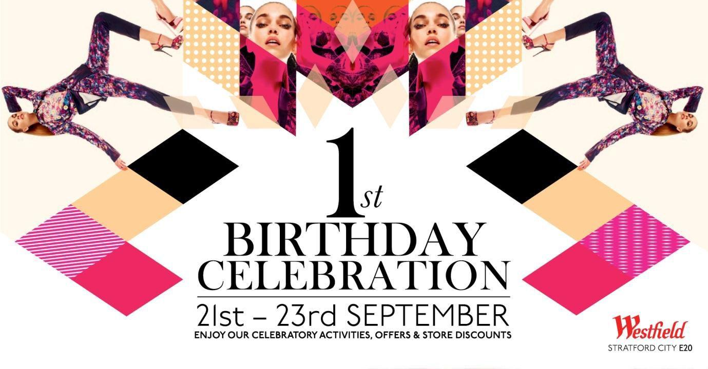 Westfield Stratford City Shopping Centre Birthday Party