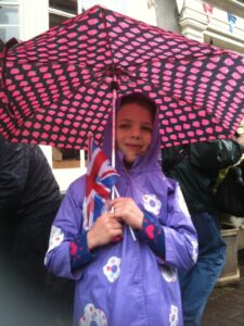 Waiting for the Olympic Torch relay