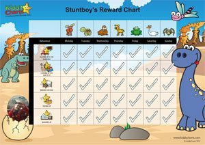 Dinosaurs chores for toddlers chart example