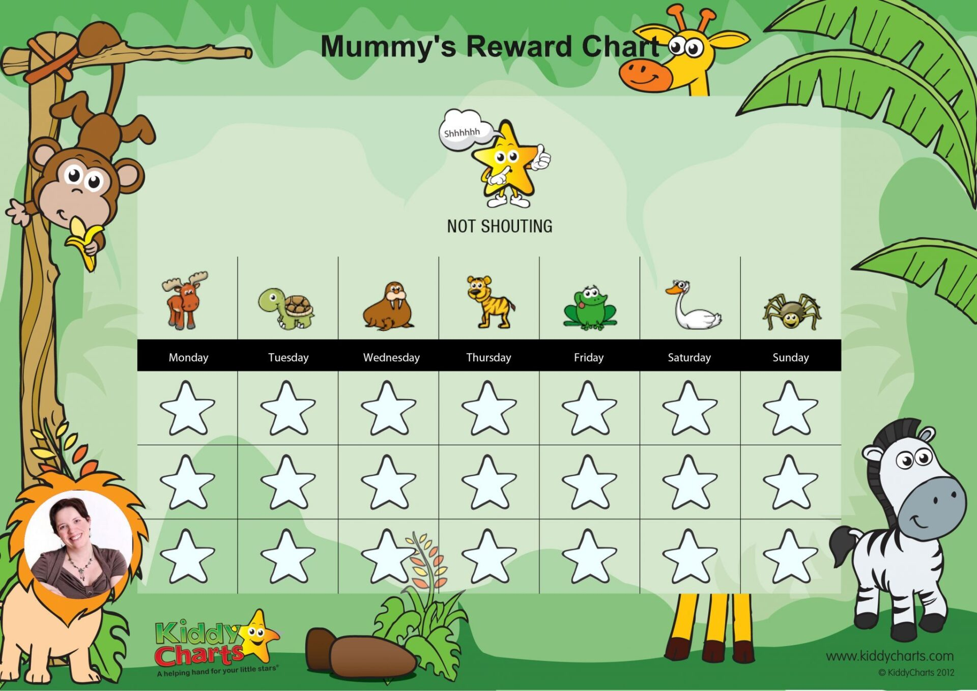 Mummys not shouting at children reward chart
