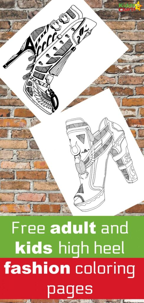 FREE adult coloring pages - high heels