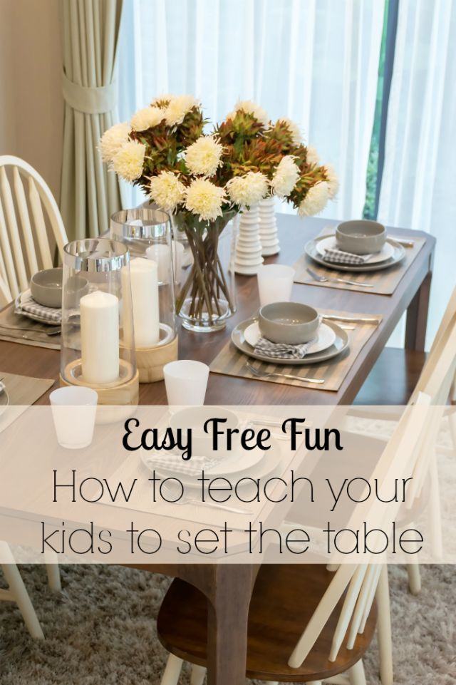 We make teaching your kids how to set the table easy with thse great table mats, themed with healthy food, to make them want to learn - so they can do this for you when you have guests!