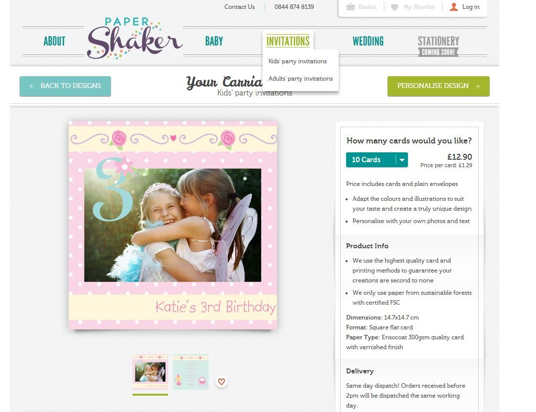 Invitation Cards: Papershaker Your Carriage Awaits Design