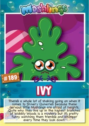 Moshi Monsters Series 10: Ivy collectors card