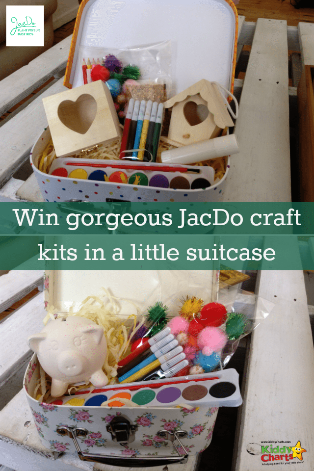 We have another wonderful prize in our summer countdown today - with some craft kits from JacDo. These are presented in a little suitcase, which your kids will love to play with too. Closes 11th August.