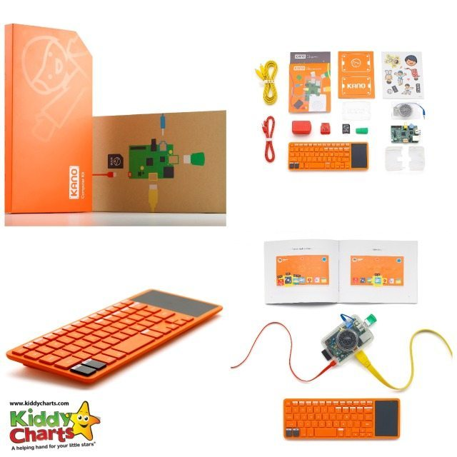 Details of Kano kit computer - who wants one for themselves, we have an amazing giveaway on the blog, closing on the 16th April, come on get one for the kids, so they can learn to code!
