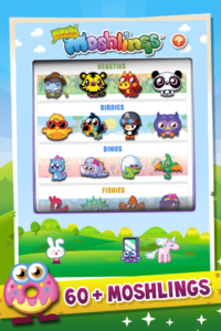 KiddyCharts Printable Reward Charts Moshi Monsters Home Screen and Menu