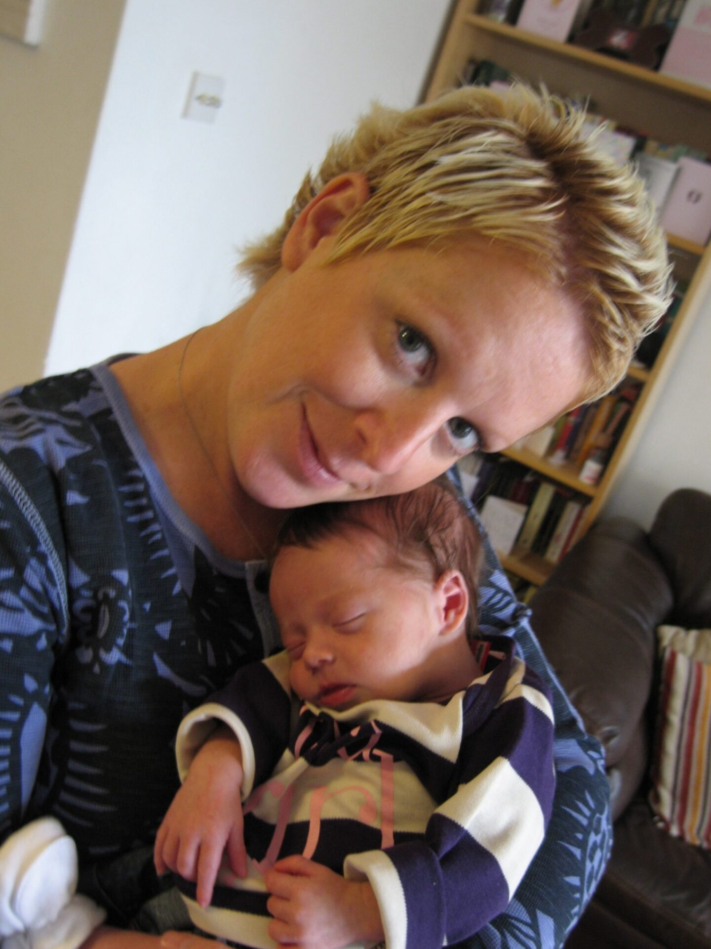 Baby Reflux: Fi and Betsy - her favourite position was upright after feeds
