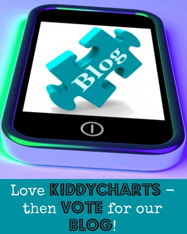 I don't do coy very well, so PLEASE vote for KiddyCharts in the Brilliance in Blogging awards if you like us. Perhaps in social media or even video. We have a lot more to give and your votes will help us get there. Thanks for reading and helping. Closes 12th April - so hurry!