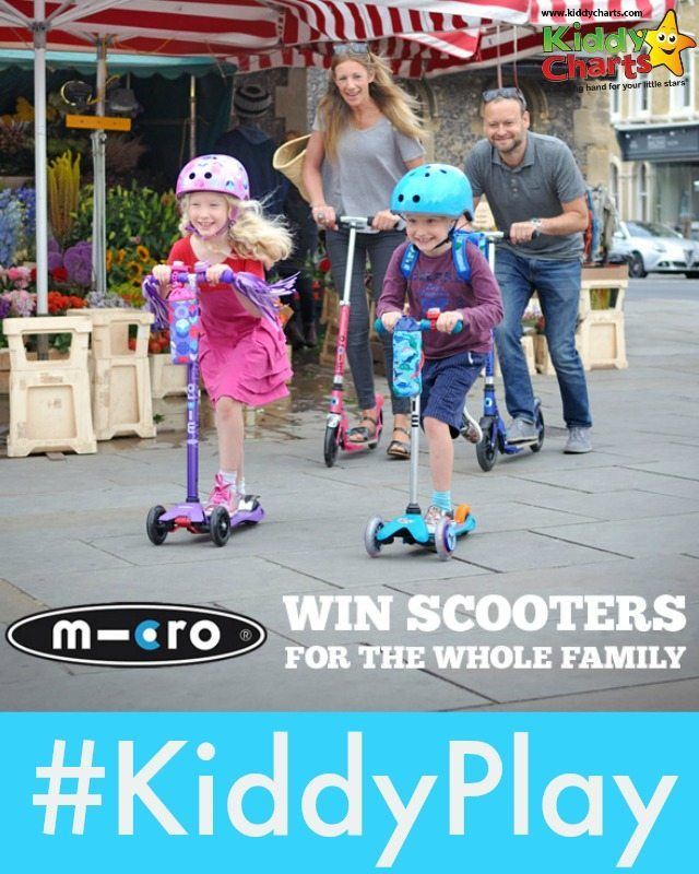 Win scooters for the whole family AND give 50p per entry to The Kids Company as well! Closes 28th January,, and all u need to do is share your kids play photos to enter :-D