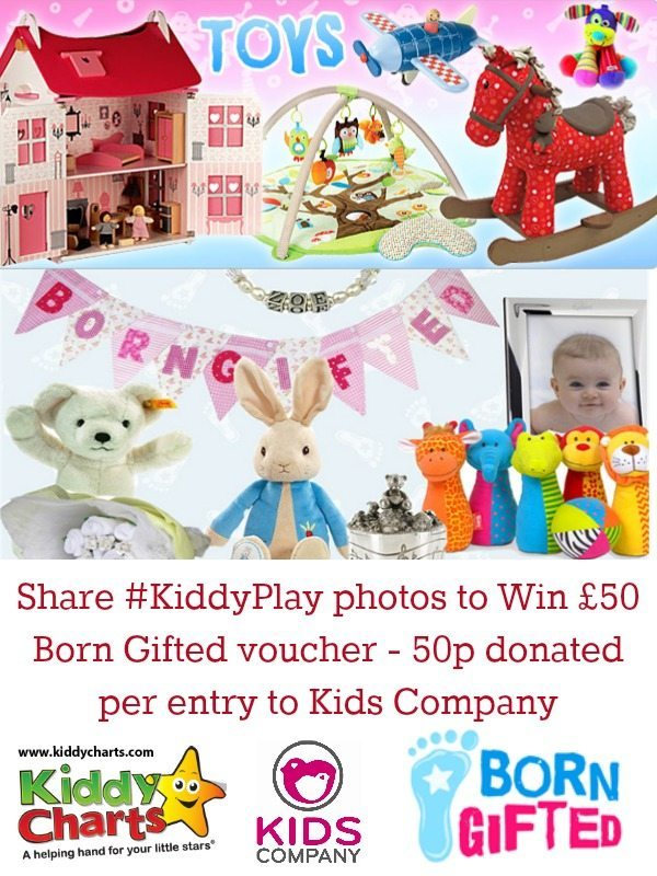 KiddyPlay is back for November - share your play photos with the KiddyPlay hashtag on Facebook, Twitter and Instagram. Every entry - we donate 50p to Kids Company (up to £250).