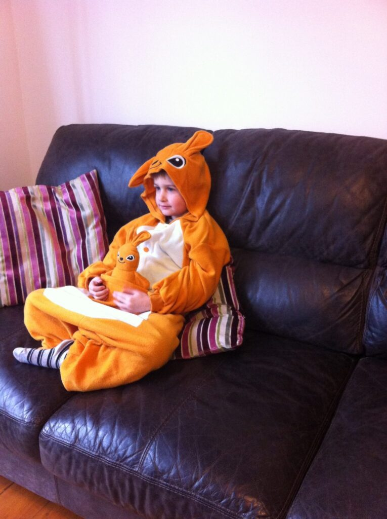 Kids onesies - sitting and chilling!