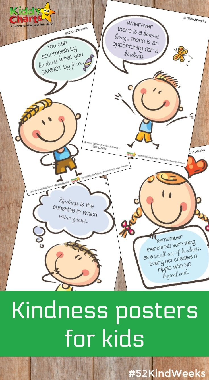 Kindness poster for kids - why not download them all today? #bekind #kindess