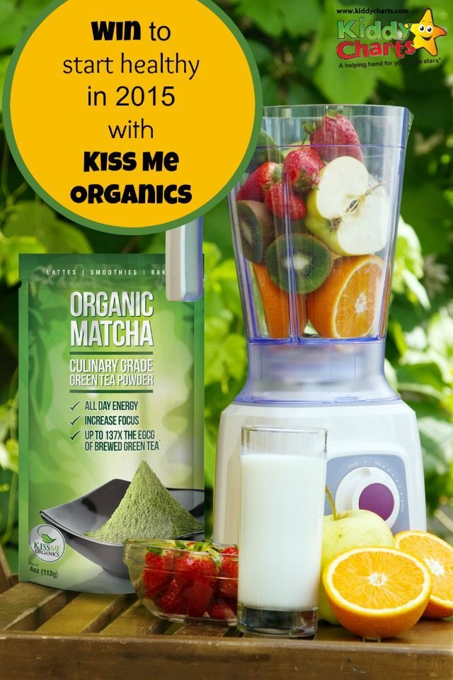 Are you detoxing for 2015? Getting healthy? Then this giveaway is for you - some Green Tea powder from Kiss Me Organics to help you out.