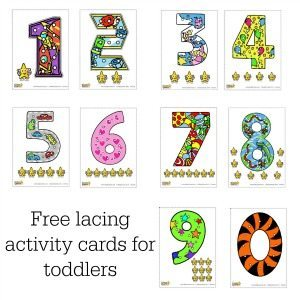 These lacing cards are just gorgeous - really great for little hands, and they help with maths recognition too.