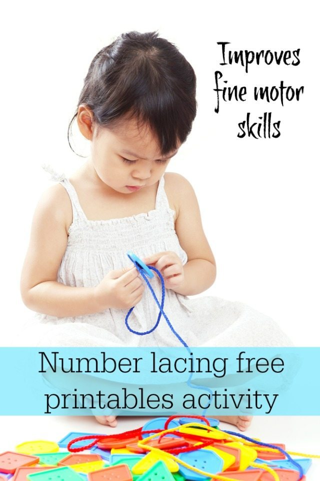 Wwe all know that lacing can help with fine motor skills - well here are some great lacing cards that also help with maths too - both sequencing and recognition!