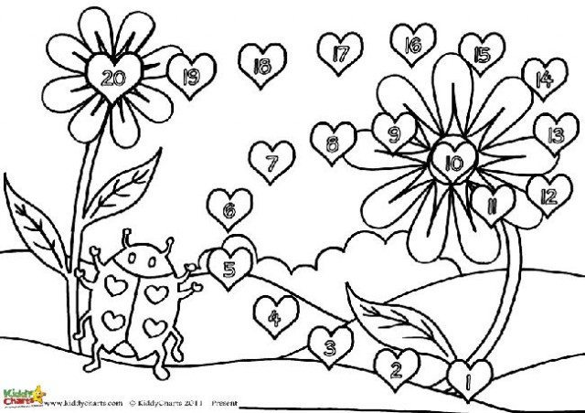 Here is the ladybird valentine reward chart in black and white, so the kids are able to colour it in. Why not download it now?