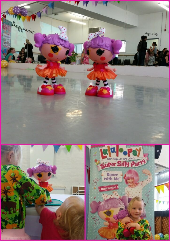 Partying with Lalaloopsy at the Pineapple dance studios in Covent Garden