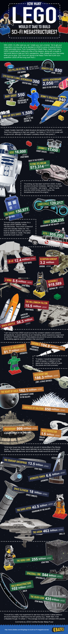 How Many LEGO Would It Take to Build Sci-Fi Megastructures