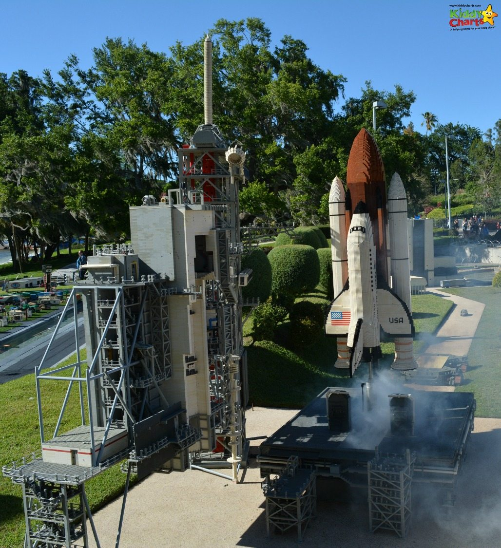 Legoland Florida even has a space shuttle that has a countdown and then it takes off - great attention to detail there!