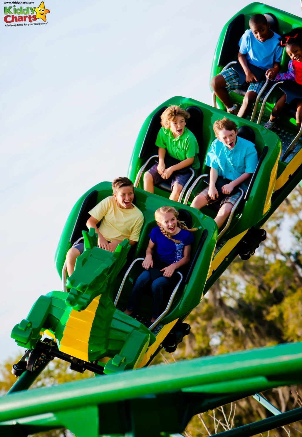 Legoland Florida has some great rollercoasters for the kids - a lovely intro for some of the faster ones that you can find at some of the Florida theme parks!