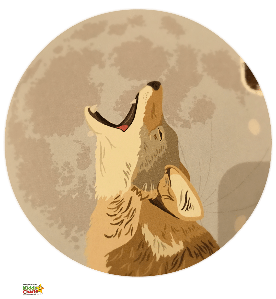The wolf howling at the moon is one of our favourite pics from The Animal Book from Lonely PLanet Kids - love it!