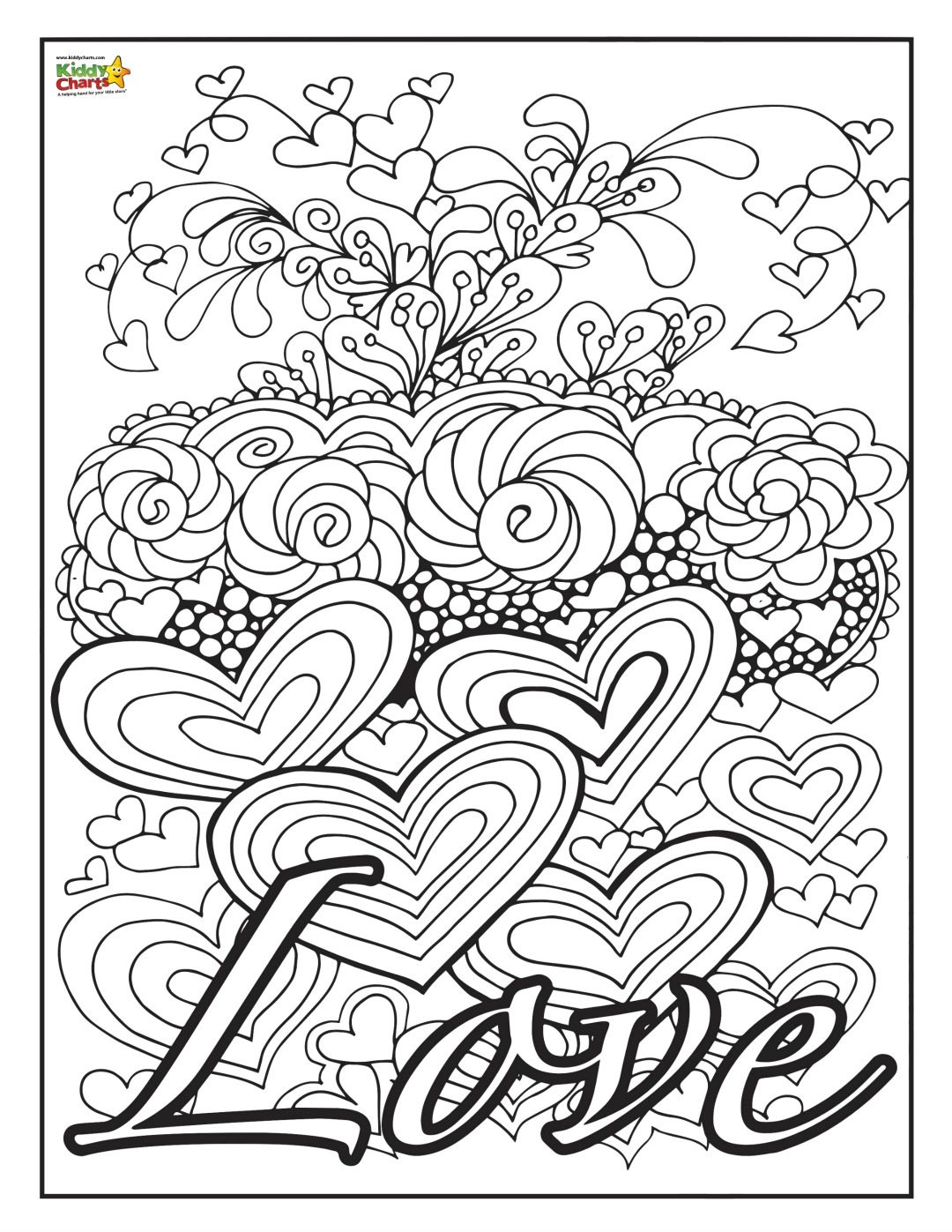 Love kids coloring page