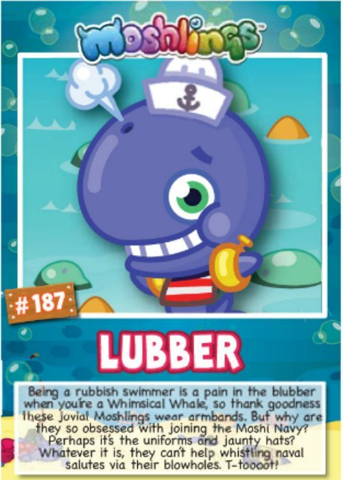 Lubber Moshi Monsters series 10 character cards