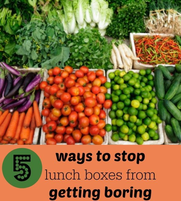 Lunch box ideas for your kids; how to stop lunches from getting boring!