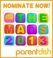 mad badge nominations Top 20 parenting blogs: Really, us? *Plus blog awards again*