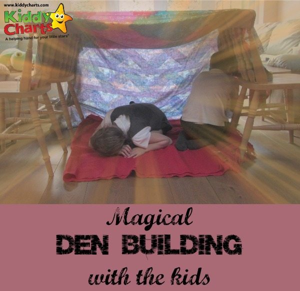 We get down and do some den building, with some tips for what you need, as well as advice on how your kids can get the most out of it