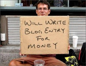 Make money blogging: begging