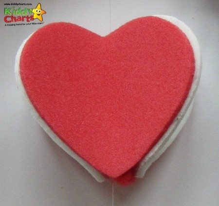Here is our 3D foam heart for our Valentines Card - easy to make - honest!