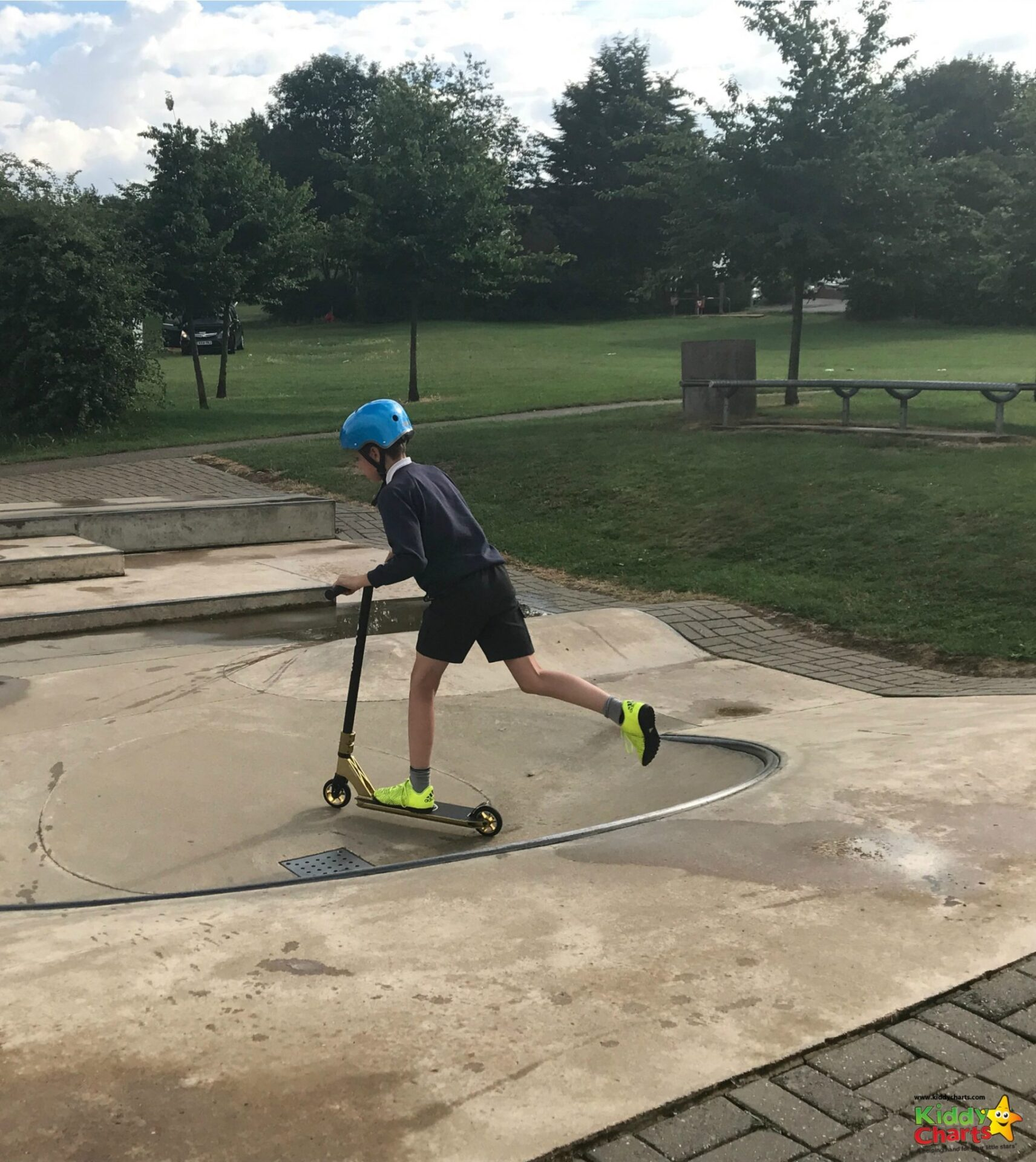 The Microscooter Cross Neck is definitely a good stunt scooter, and could be the best stunt scooter, designed for 12+, but my ten your old seems to be rather enjoying it - why not take a look?