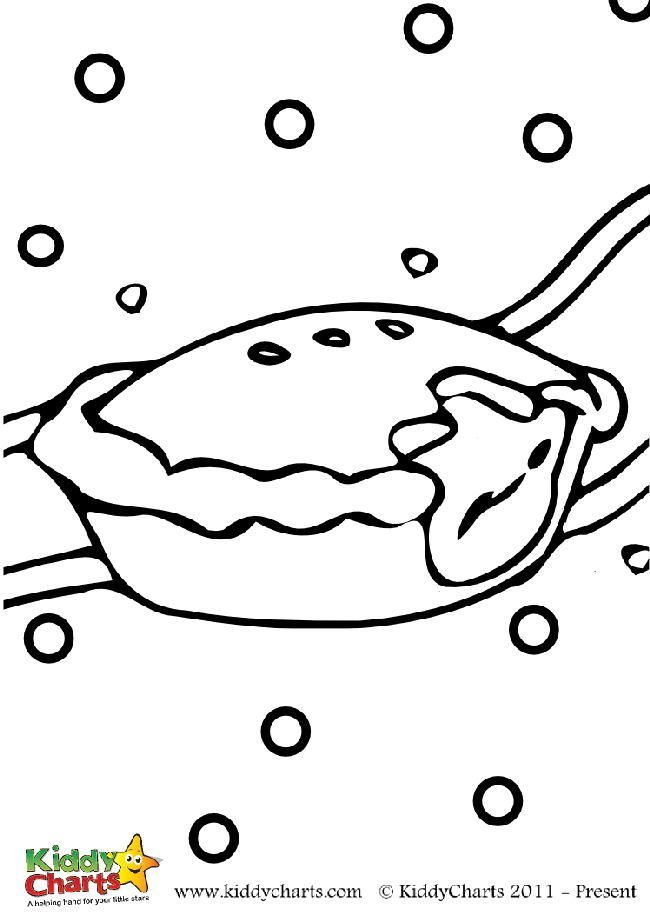 Free mince pie colouring sheet for kids