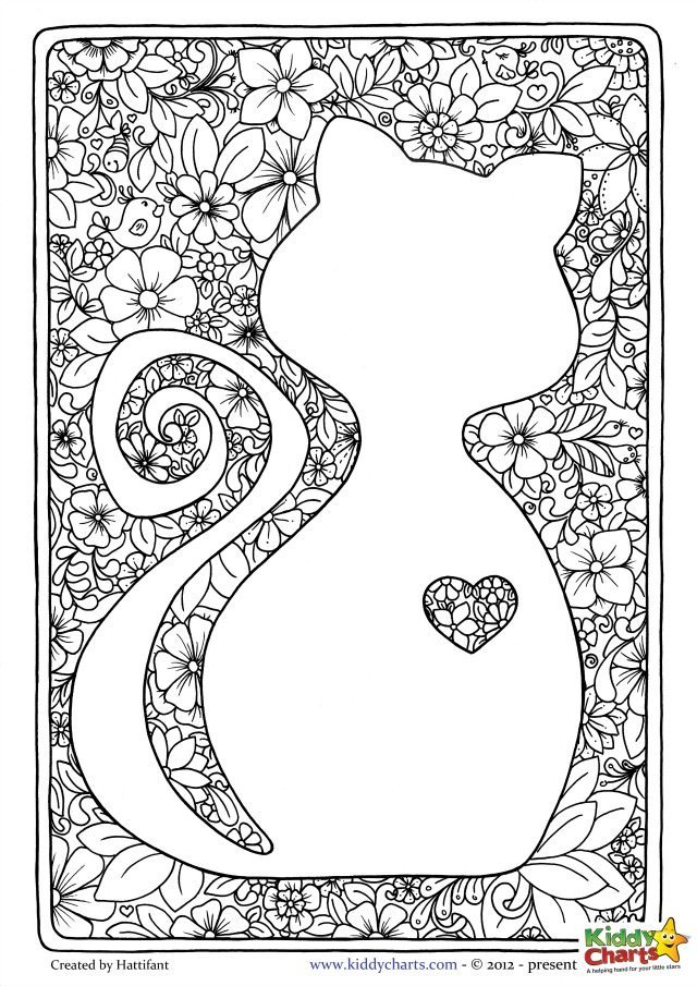 Adult coloring pages cats