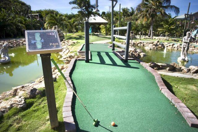 The mini golf at the Verandah Resort and Spa